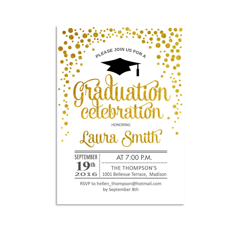 Graduation Party Invitation / Graduation / Grad Invites / Glitter ...
