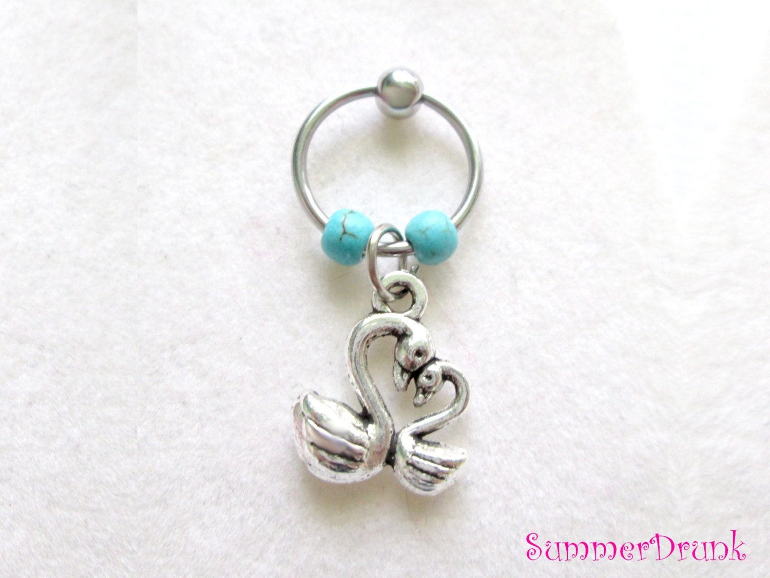 captive bead earrings swans captive bead ring cartilage hoop earring captive belly 7449