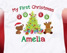 First Christmas Outfit, My First Christmas Boy, My First Christmas Girl, My First Christmas Onsie, Baby Christmas Outfit, My First Christmas