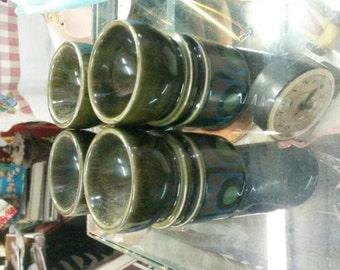 Vintage Set of 4 Arthur Wood Mod Egg Cups