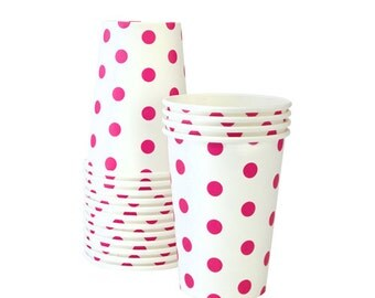 Pink Polka Dot Party Cups