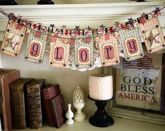 Glory - Patriotic Decor Banner Kit