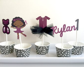 Ballerina Cupcake Toppers set of 12