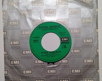 Michael Johnson Two In Love and Bluer Than Blue Vintage Vinyl 45 Record Album 1978