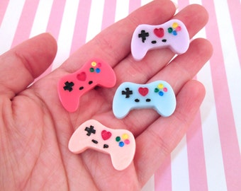 3 Video Game Controller Cabochons, #872