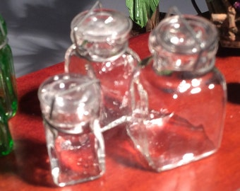 Set Of 3 Canning Jars (Clear)
