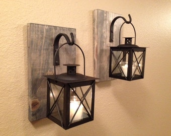 decor wrought iron lantern set wall sconce wall hanging bedroom