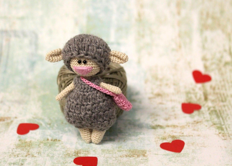 Amigurumi Sheep Doll : Crochet Sheep Doll Amigurumi Sheep Kawaii Sheep Tiny Sheep