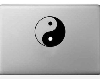 Yin and Yang car decal, YinYang Sticker, Yin Yang macbook pro vinyl decal, iphone, samsung, hp sticker, balance Item# DCL034