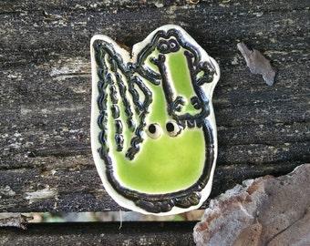 Green Alligator button