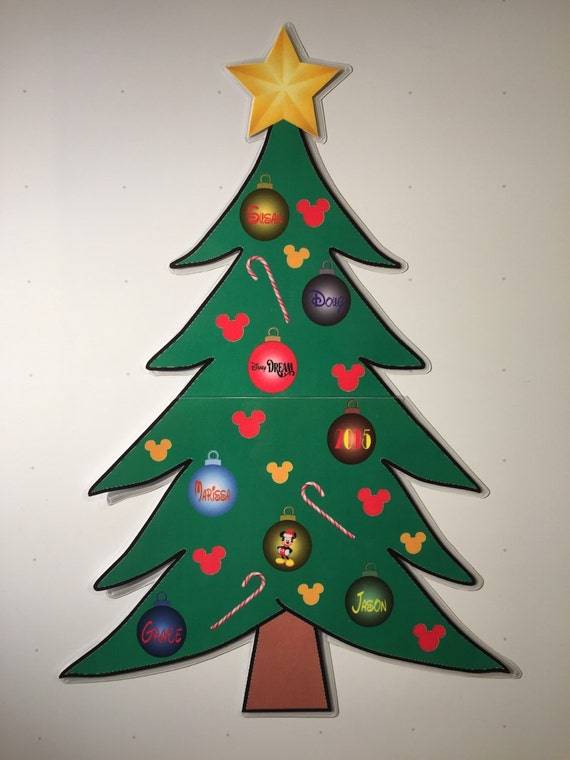 Large 15x10 2pc christmas tree disney by graysontagsandmore for Number of ornaments for christmas tree