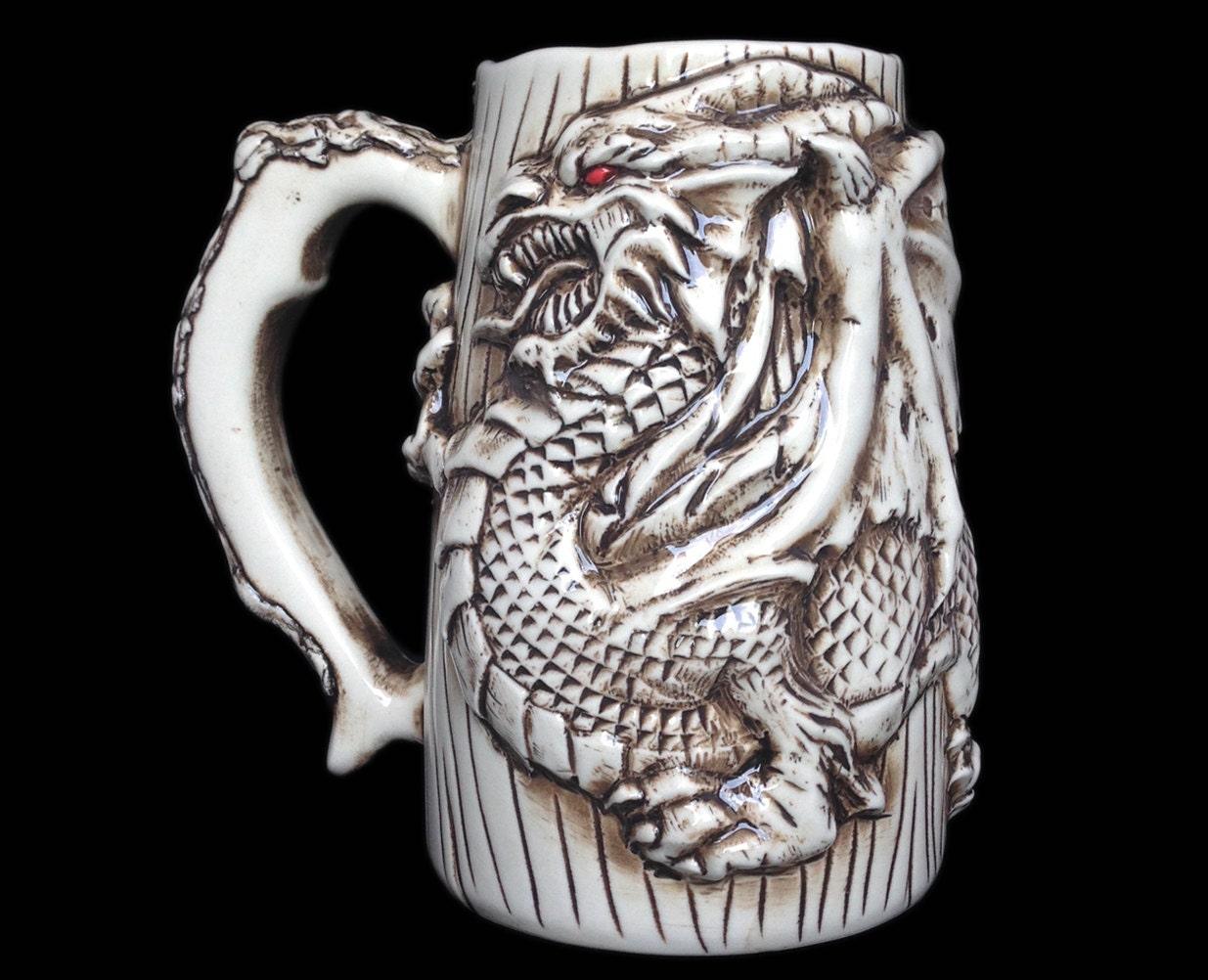 Anniversary gift for men dragon beer mug for Dragon gifts for men