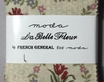 """French General LA BELLE FLEUR Mini Charm pack 2.5"""" squares"""