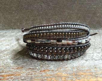 Nina Beaded Wrap Bracelet