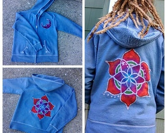 Mandala and Moon hoodie