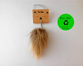 recycled fur necklace, upcycled fur necklace, tassel necklace,fur jewel, fur tassel, fur pompon necklace, fur pompon, fur accent