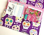 Skull Planner Insert, A6 Traveler's Notebook Insert, Fauxdori Wallet, Travel Wallet, Planner Accessories, Card Holder, Cotton Insert