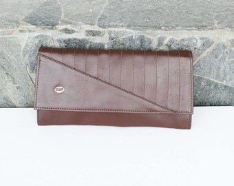 Dark brown Evening Bag Vintage Purse Clutch Handbag, Dark brown  Leather Evening Bag, Dark brown purse vintage classic bag/ Retro purse