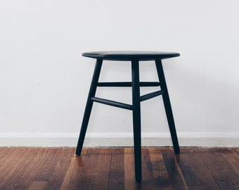 Round Side Table:  Hand Crafted, Oxidized Walnut