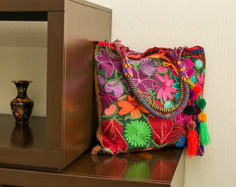 Beautiful bag, hand embroidered