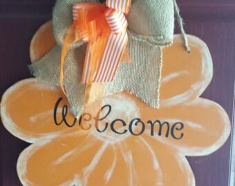 Door Hanger/Flower/Orange