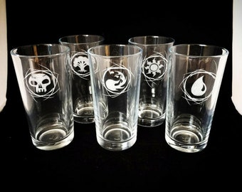 Magic: The Gathering (Hand Engraved) Hiball Glasses