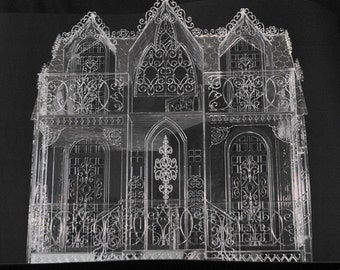 Dollhouse  KIT Glass Mansion laser cut plastic acrylic and mirror house