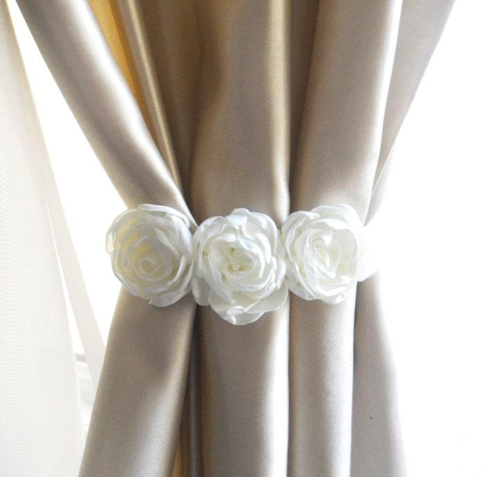 Flower Curtain Tie Backset Of 2 Pcscurtain Tie Backsflower