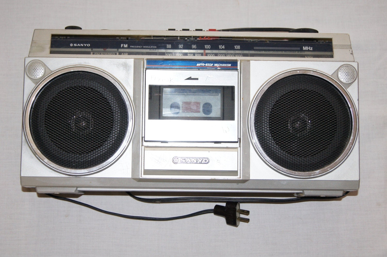 vintage 1980s sanyo m9800 boombox frank carved in working