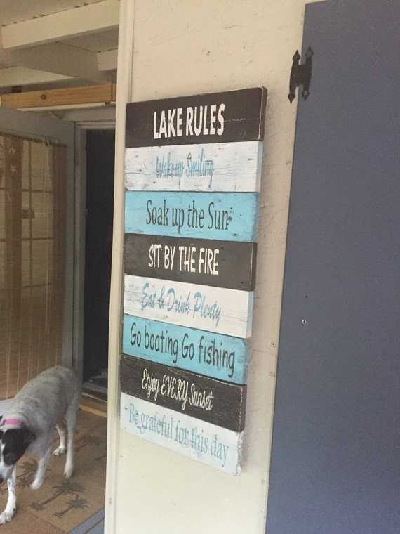 On Sale Lake Signs Lake House Decor Nautical Signs Beach