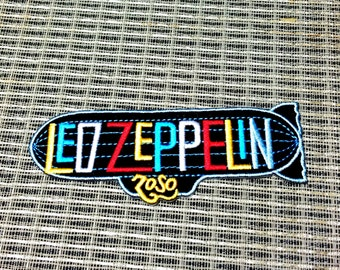 Led Zeppelin Embroidered Iron -On Patch 1 1/2'' X 4 1/2''