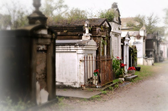 LAFAYETTE CEMETERY #1 Above Ground Tombs ~ New Orleans Louisiana Photography ~ Graveyards ~ Garden District ~ Cajun Decor ~ 12x18 format