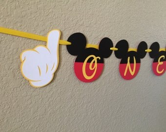 Mickey Mouse Highchair Banner, Mickey Mouse age Banner, Highchair Banner