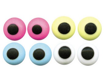 "Assorted Colors Royal Icing Eyes 1/4"" Diameter"
