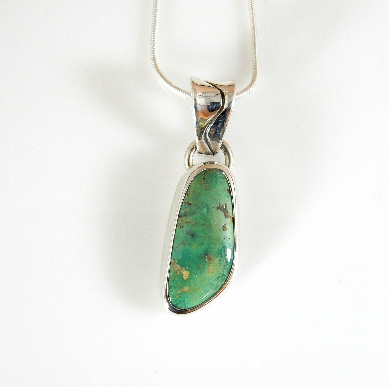 silver turquoise pendant silver turquoise jewelry sterling