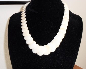 Ivory-Look Bone Graduated Necklace