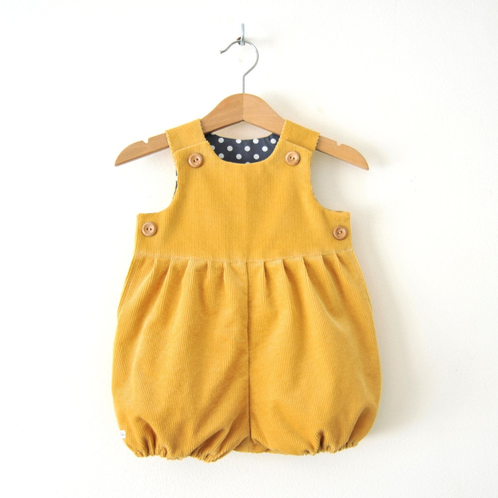 Mustard Yellow Corduroy Baby Romper Suit For Boys And By KhuduKids