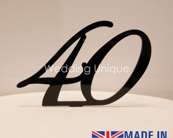 Acrylic cake topper number, birthday cake topper, custom numbers available! Various colours! Monogram cake toppers