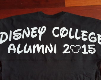 Personalizable Customizeable Disney College Alumni Program Solid Colored Spirit Jersies - choose sizes and colors