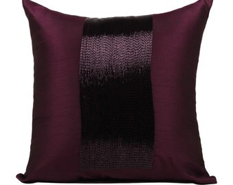 Plum Throw Pillow Cover Multiple Sizes- 14x14 16x16 18x18 20x20 inches