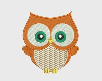 """Owl Embroidery Design INSTANT DOWNLOAD size - 3.55"""" x 3.93"""""""