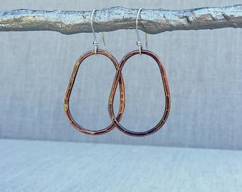 Hoop Earrings, Copper Hoop Earrings