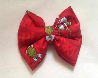 Red Grinch Bow