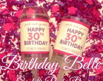Birthday Belle Confetti Push-Pops