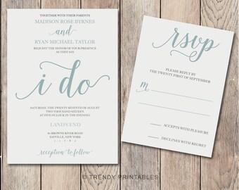 Wedding Invitation, Printable Wedding Invitation, Wedding Invites, Downloadable Wedding Invitation, Custom Wedding Invitation, Engaged