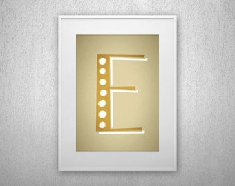 Typography Art Print - Pound Sign - Letter poster - Printable - Wall Art