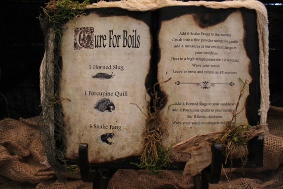 Harry Potter Cure for Boils Book Prop