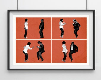 PULP FICTION, Original Art, Minimalist Movie Poster Print 13 x 19""