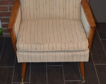 Mid Century Modern Wood Arm Chair