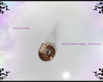 Creative jewelry ring metal. F2H ring
